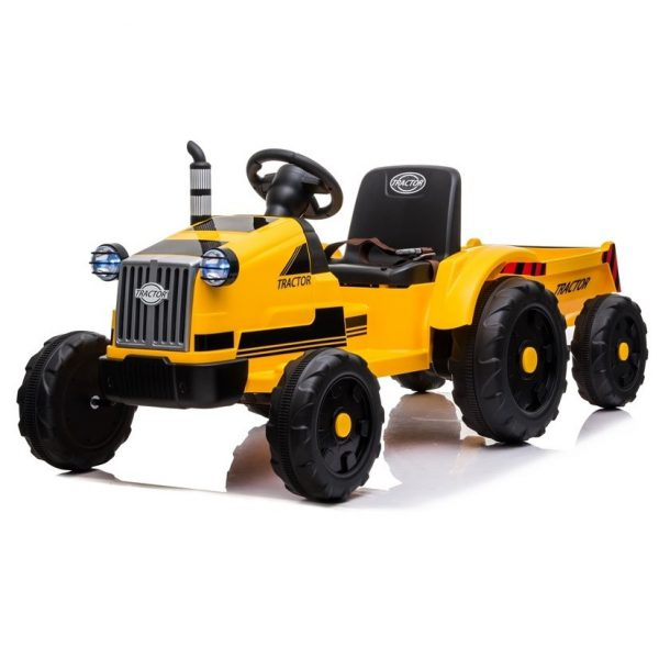bernu_elektroauto_elektromobilis_elektro_auto-Tractor_ piekabe_Yellow_kidstopcars.com1